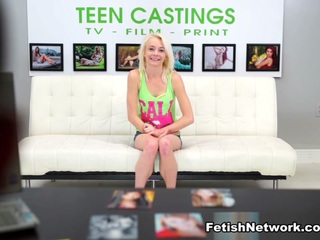 Maddy Rose, a sexy hot blonde next door, always wondered if she could be a model! She really wants to be one. She sent her audition tape to the best talent agency in town: college Castings. She got a call-back! She'll do anything to get a contract. Her potential agent wants to take a few photos of her in underwear. When he tries to get her naked, promising it will open her up to more opportunity, she grabs her clothes and ends the shoot. So he makes it clear: If she doesn't do what he says, he won't work with her. Now, to even be considered, she must endure his love for BDSM, domination, rope bondage, deepthroat bj, fingering, squirting, spanking, slapping, rough sex, throwing her small frame into different positions. She might not become famous but will definitely leave with a cum shot on her face.