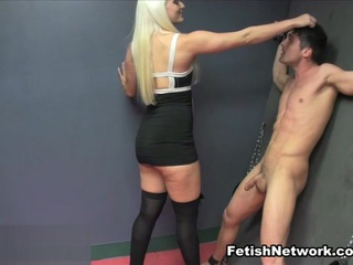 Macy Cartel has CBT Fun with her New Sex Slave  - MeanHandJobs