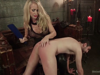 Mrs. Scuckolds her slave with big black alpha cock!