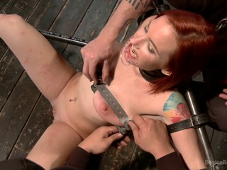 Sophia is one of the toughest pain sluts that we have had grace the pages of device bondage.