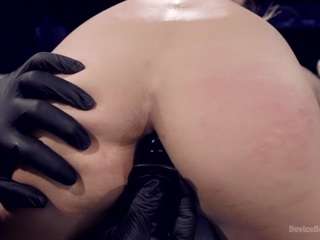 Big titted Nadia Styles submits to Orlando and his brutal bondage box. She is contorted  stretched out  and fucked every way this sadistic fuck can imagine. Squirting orgasms  anal fucking  and brutal bondage leave this slut begging for more.