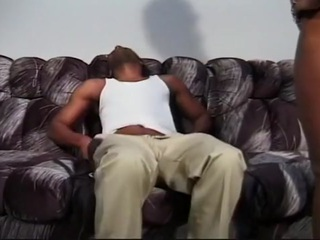 Nasty Black Slut Deep Balled On Couch