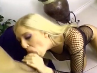 Stacked blond porn slut Michelle B takes a severe anal pounding from hardcore fucker Lee Stone in this brutal ass reaming clip.  She opens the scene submissively sucking his cock, looking up into his eyes like a true slut while she deepthroats his tool.  She doesn't mind choking or gagging on it - in fact, it makes her feel like a real lady!  Once Lee tires of her mouth, he starts to fuck her, quickly moving into her tight rear end.  This ass whore doesn't complain as he opens up her extremely tight and tender rear end.  Soon she is riding the cock anally like a true ribald whore, finally taking a huge mouthful of man juice and swallowing.