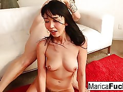 Marica's real doll gets turned on by Alex's big dick