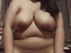 Busty Filipina Joyce Vidal practising cowgirl before sex
